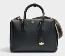 Milla Medium Tote Park Avenue Tasche aus schwarzem Park Avenue Leder