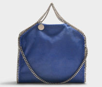 Handtasche Falabella 3 Chains Shaggy Deer aus Synthetikmaterial in Blau