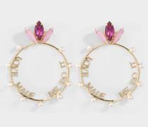 Ohrringe 'Love Made Me Do It' aus rosa Metall
