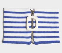 Choker JWA Stripe aus Merinowolle in Blau