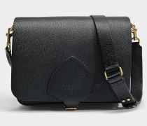 The Satchel Large Square Tasche aus schwarzem Ziegenleder