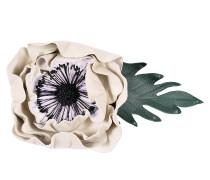 Anemonen Brosche aus weißem Leder