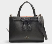 Handtasche Sam Thompson Street aus schwarzem Kalbsleder