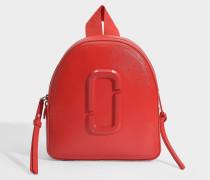 Rucksack Pack Shot DTM aus rotem Leder