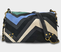 Patchwork Bobi Tasche aus mehrfarbigem Kalbsleder
