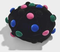 Basco Hut aus schwarzem und mehrfahrbigem Samt