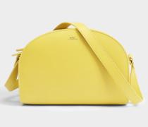 Demi Lune Tasche aus Pale gelbem glänzend Kalbsleder