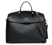 My Piper L Top Handle Tasche aus Onyx Kalbsleder