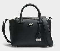 Nolita Mini Messenger Tasche aus schwarzem Leder