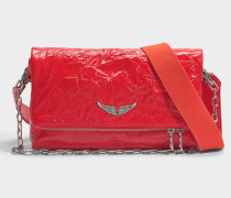 Rocky Creased Tasche aus rotem Kuhleder