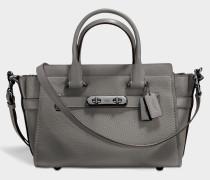 Swagger 27 Carryall Tasche aus grauem Kalbsleder