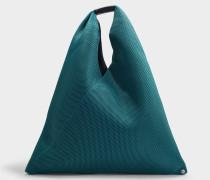 Handtasche Japanese aus türkisem Synthetikmaterial