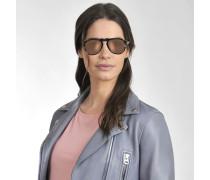 649 Series Sonnenbrille aus braunem Acetat