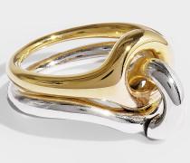 Ring Eclipse aus Vermeil und Silber