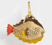 Sole Fish Charm Taschenaccessoire mit Schmucksteinenen
