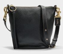 Kleine Handtasche Duffle aus schwarzem Kalbsleder
