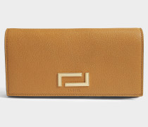 Pia Folding Continental Geldbörse aus camelfarbenem Leder