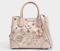 Mercer Gallery small Center Zip Satchel Tasche aus Soft rosanem Double Sided Mercer Pebble Leder