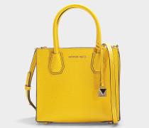 Handtasche Mercer Medium aus sonnenblumengelbem Kalbsleder