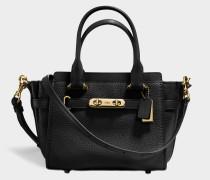 Swagger 21 Carryall Tasche aus schwarzem Kalbsleder