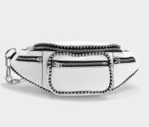 Attica Soft Fanny Pack in White Lambskin