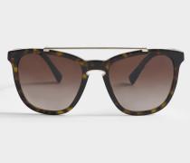 Acetat Sonnenbrille aus braunem Acetat