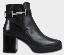 Logo ankle boots