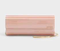 Clutch Sweetie aus rosa Acryl mit Pailletten