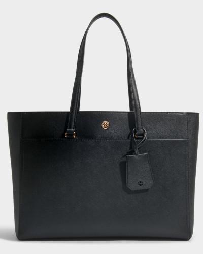 Shopper Robinson aus Kalbsleder Saffiano in Schwarz und in Marineblau