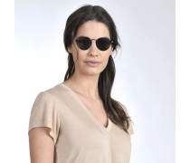 Sonnenbrille aus braunem Acetat