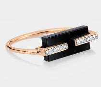 Ring Black and Diamond Art Deco aus 18 Karat Gelb- und Roségold