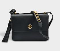Brooke Shoulder Bag aus schwarzem Leder