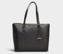 Handtasche Lucie Cameron Street aus schwarzem Kalbsleder