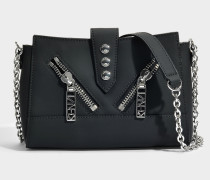 Kalifornia Mini Shoulder Bag in Black Split Leather