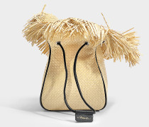 Ray Mini Glove Beuteltasche Tasche aus Natur gewebtem Stroh