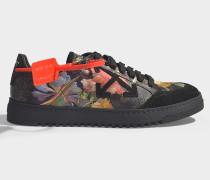 Sneaker Scarf aus schwarzem Leder und Seide