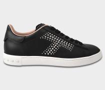 Sportivo Studded Sneaker aus schwarzem Kalbsleder