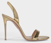 Sandalen So Nude 105 aus goldenem Leder