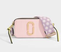 Tasche Snapshot aus rosa Leder mit Polyurethanbeschichtung