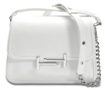 Double T Small Messenger Tasche aus weißem Grace Lux Kalbsleder