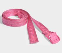 Gürtel Mini Industrial aus pinkem Synthetikmaterial