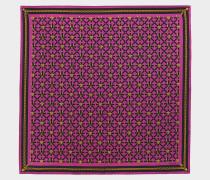 90x90 bedrucktes Seidentuch in pink