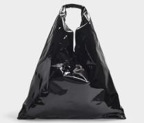 Handtasche Japanese aus schwarzem Kalbsleder