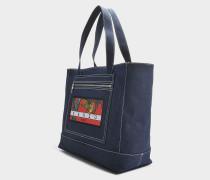 Tote Tasche aus navyblauem Canvas