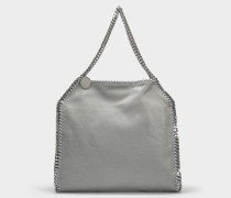 Kleiner Shopper Falabella Tote Shaggy Deer aus Synthetikmaterial in Hellgrau
