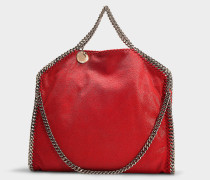 Handtasche Falabella 3 Chains Shaggy Deer aus Synthetikmaterial in Rot