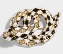 Schlangenmuster Brooch aus schwarzem Messing