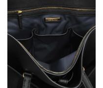 Robinson Tote Bag aus schwarzem und Royal navyblauem Soft Saffiano
