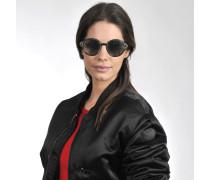 V-Strong Sonnenbrille aus schwarzem Acetat