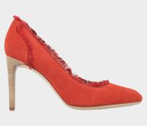 High Heels aus Veloursleder mit Seidenfransen